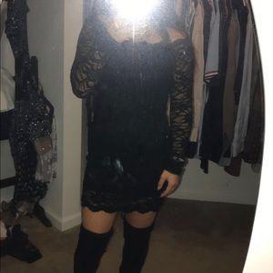 Black tight semi or clubbing dress